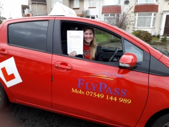 Big Congratulations to Alice passing her driving test 1st attempt with only 4 minors. You have been a lovely pupil and I wish you all the very best. Well done!!